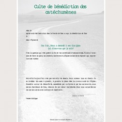 Konfirmationsurkunde Texte francais