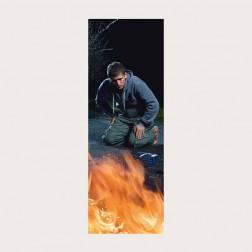 Lesezeichen «Überrascht am Feuer»