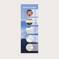 Lesezeichen mit Bibelversfinder «modern» blaue Weite