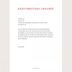 Konfirmationsurkunde «Klassisch»