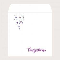 Kuvert quadratisch Taufschein «Engel»