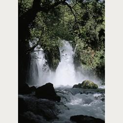 Bildbeschreibung - Wasserfall am Jordan
