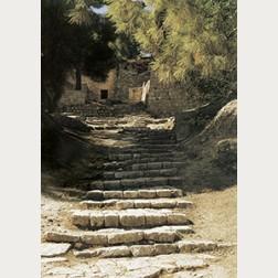 Bildbeschreibung - Römische Treppe in Jerusalem