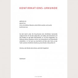 Konfirmationsurkunde «Modern»