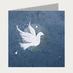 Taufschein Taube blau